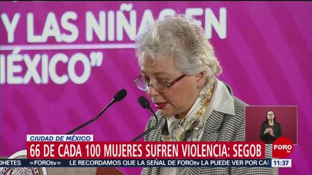 Segob: 66 de cada 100 mujeres sufren violencia