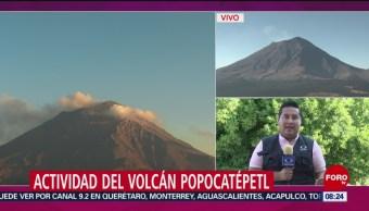 FOTO:Semana de actividad importante en el volcán Popocatépetl, 23 Marzo 2019