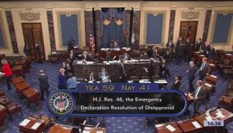 Foto: Senado de EU vota contra emergencia nacional para muro