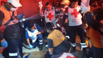 Foto: Socorristas durante rescate de víctimas de accidente en Chiapas, 7 de marzo de 2019, México
