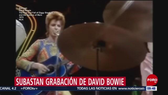 FOTO: Subastan en Reino Unidodemo de 'Starman' de David Bowie, 17 marzo 2019