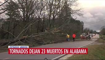 Sube a 23 la cifra de muertos por tornados en Alabama, EU