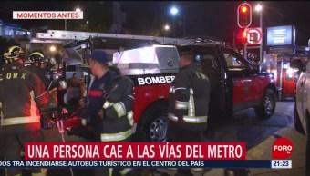 Foto: Jovencita Avienta Vías del Metro Servicio Metro Muerte Vías 22 de Marzo 2019