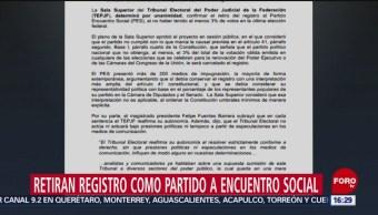 Foto: TEPJF determina retirar el registro como partido político al PES