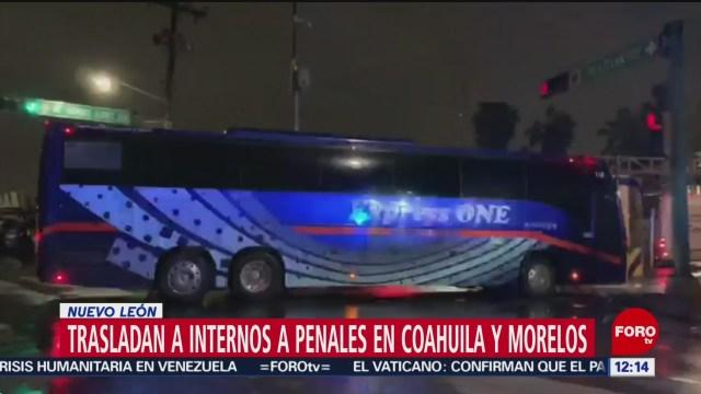 Trasladan a 500 reos de Nuevo León a penales federales