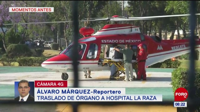 Trasladan órganos a Hospital de La Raza, CDMX