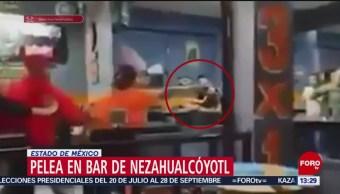 Foto: Trifulca en un bar de Nezahualcóyotl