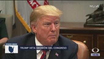 Foto: Trump veta resolución del Congreso sobre emergencia nacional
