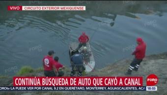 Foto: Un muerto al caer automóvil a canal de aguas negras en Edomex