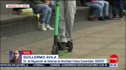 Foto: Uso Reglamento Sanciones Motopatines Scooter Patines Electricos Cdmx 25 de Marzo 2019