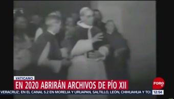 Vaticano abrirá en 2020 archivos del pontificado de Pío XII