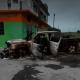 Foto: Vehículo incendiado tras violencia en Tamaulipas, 24 de marzo de 2019, México