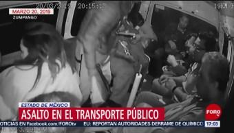 FOTO:Video: Asaltante golpea a usuario de transporte público en Zumpango, 24 Marzo 2019