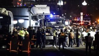 Foto: Un tráiler embistió varios automóviles sobre la carretera México-Marquesa a la altura de la entrada de Patio Santa Fe, 7 de noviembre de 2018 (Cuartoscuro)