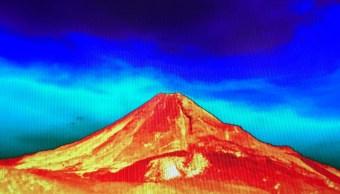 Volcán de Colima, monitoreado por primera vez con cámara térmica