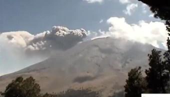 Foto: actividad del Volcán Popocatépetl, 19 de marzo 2019. Twitter @CNPC_MX