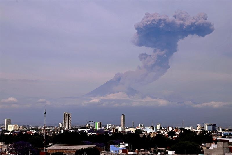 Foto: Volcán Popocatépetl registra intensa actividad, 16 de marzo 2019. EFE