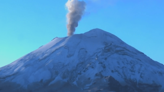Prevén caída de ceniza del Popocatépetl en CDMX