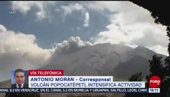 Foto: Volcán Popocatépetl Registra Exhalación 19 de Marzo 2019
