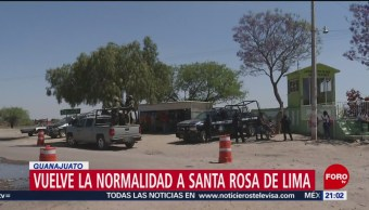FOTO: Vuelve la normalidad a Santa Rosa de Lima en Guanajuato, 16 marzo 2019