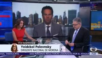 Yeidckol Polevnsky evalúa cien días de AMLO como presidente