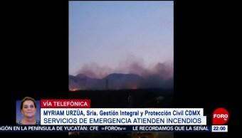 FOTO: Gobierno de CDMX trabaja en sofocar incendio en Tlalpan, 7 de abril 2019