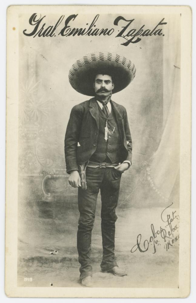 Emiliano Zapata en 1918 (CC/Wikimedia/DeGolyer Library, Southern Methodist University)