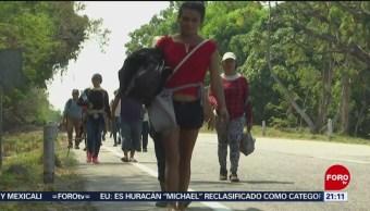 FOTO: 3 mil migrantes centroamericanos continúan camino a Mapastepec, Chiapas, 20 ABRIL 2019