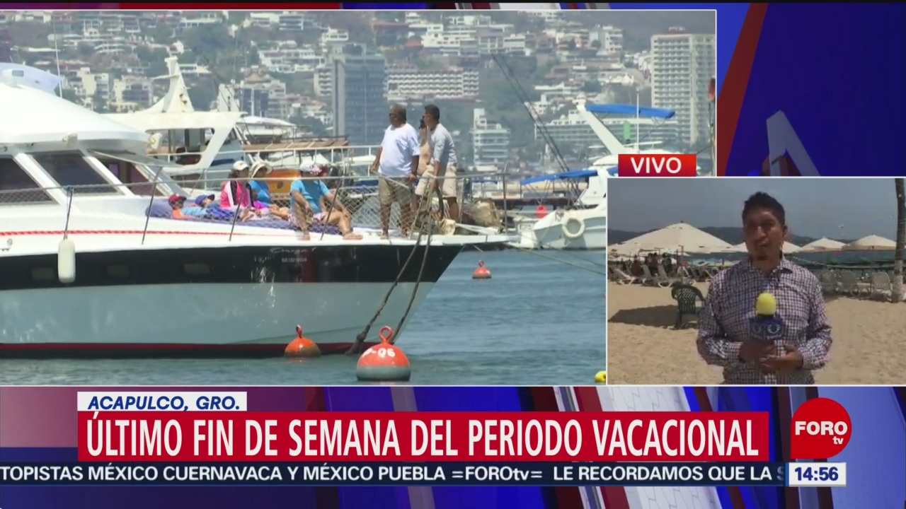 FOTO: Acapulco espera aumento de ocupación en último fin de semana vacacional