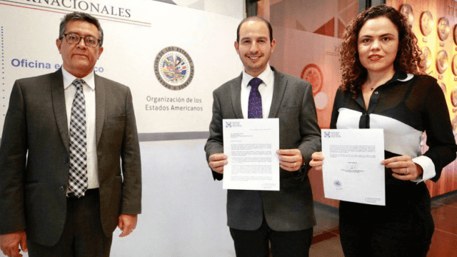 Partido Acción Nacional entrega carta a la OEA, 29 de marzo de 2019, Ciudad de México