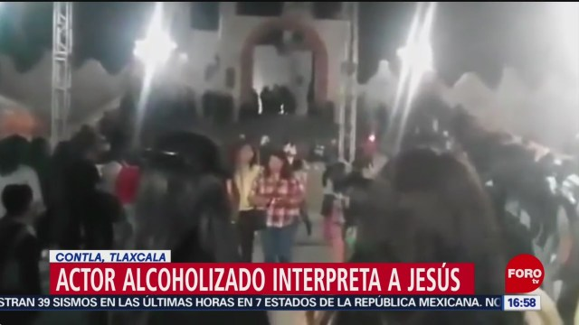 Foto: Actor alcoholizado interpreta a Jesús en Tlaxcala