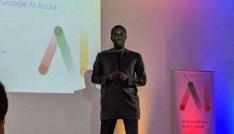 Foto: Moustapha Cissa, director del nuevo centro Google en África durante su inauguración esta semana, abril 13 de 2019 (Foto: morebranches.com)