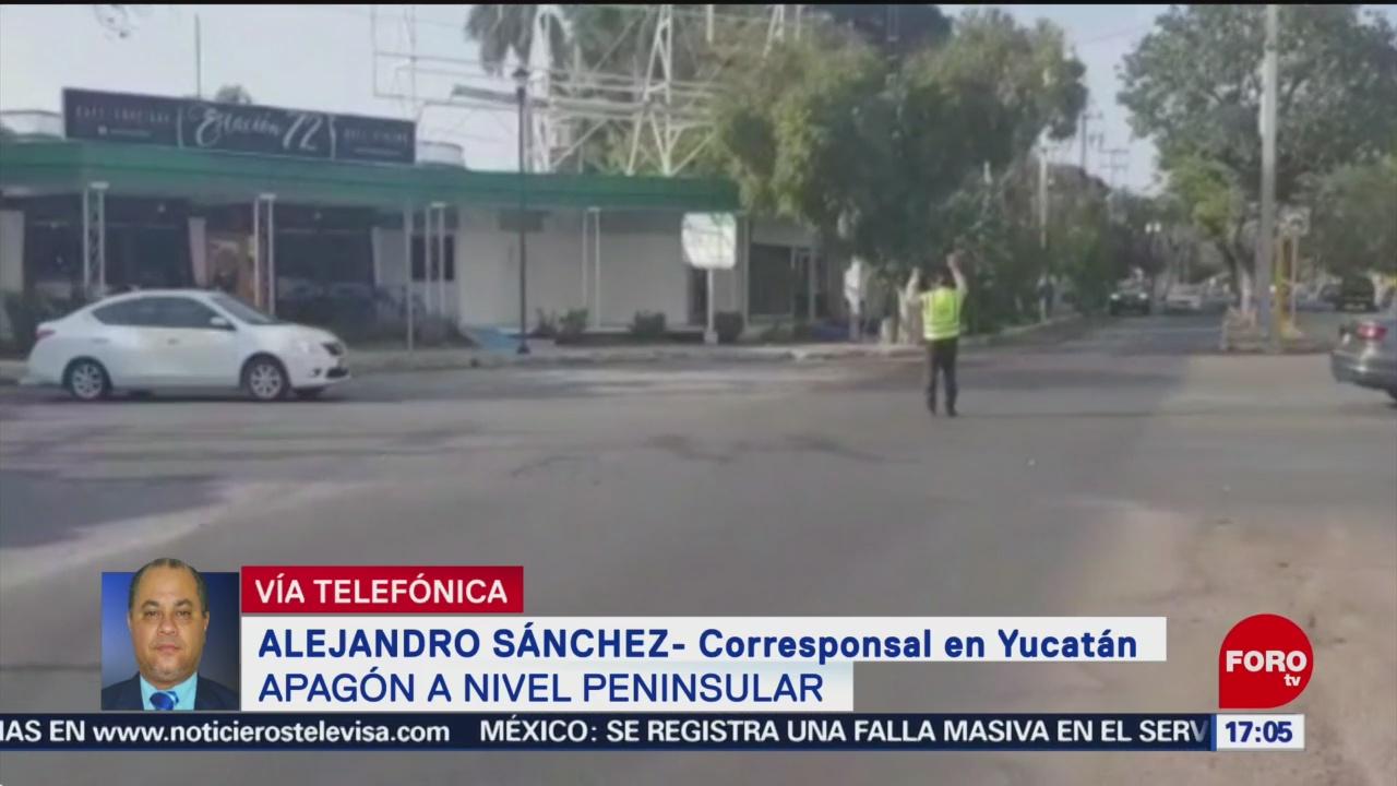 Foto: Apagon Península Yucatán 5 de Abril 2019