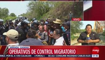 Foto: Agresión a una camioneta detonó acciones de grupo táctico contra migrantes