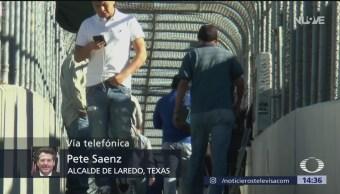 Foto: Pete Saenz, alcalde de Laredo, Texas, anticipó el cierre de la frontera entre Estados Unidos y México