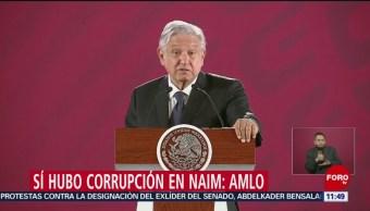 AMLO insiste en que hubo corrupción en proyecto NAIM
