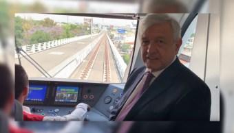 Foto:El presidente de México, Andrés Manuel López Obrador, supervisó la Línea 3 el Metro de Guadalajara, 5 abril 2019