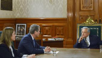 AMLO se reúne con el director de la OMC, Roberto Azevedo, en Palacio Nacional (@lopezobrador_)