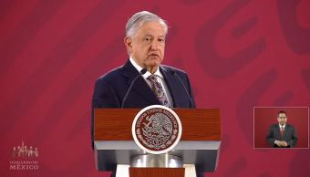 Foto:El presidente de México, Andrés Manuel López Obrador, en su conferencia de prensa matutina celebrada en Palacio Nacional, 4 abril 2019