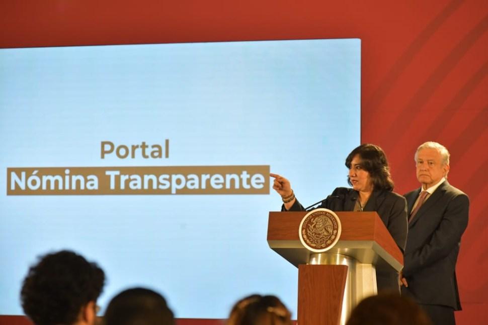 Foto AMLO transparenta nómina de funcionarios públicos y presenta portal 15 abril 2019