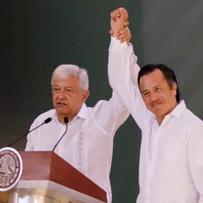 AMLO defiende a Cuitláhuac García, gobernador de Veracruz; anuncia que visitará Minatitlán