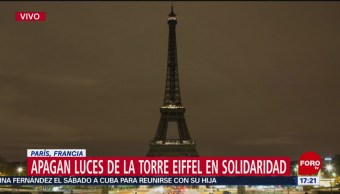 FOTO: Apagan luces de la Torre Eiffel en solidaridad con Sri Lanka, 21 ABRIL 2019