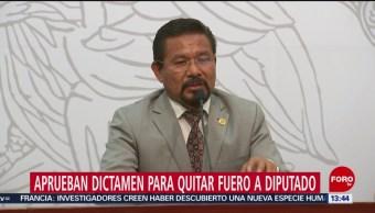 Foto: Aprueban dictamen para quitar fuero a diputado Cipriano Charrez