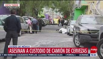 Foto: Asesinan a custodio de camión de cerveza en Tlalnepantla