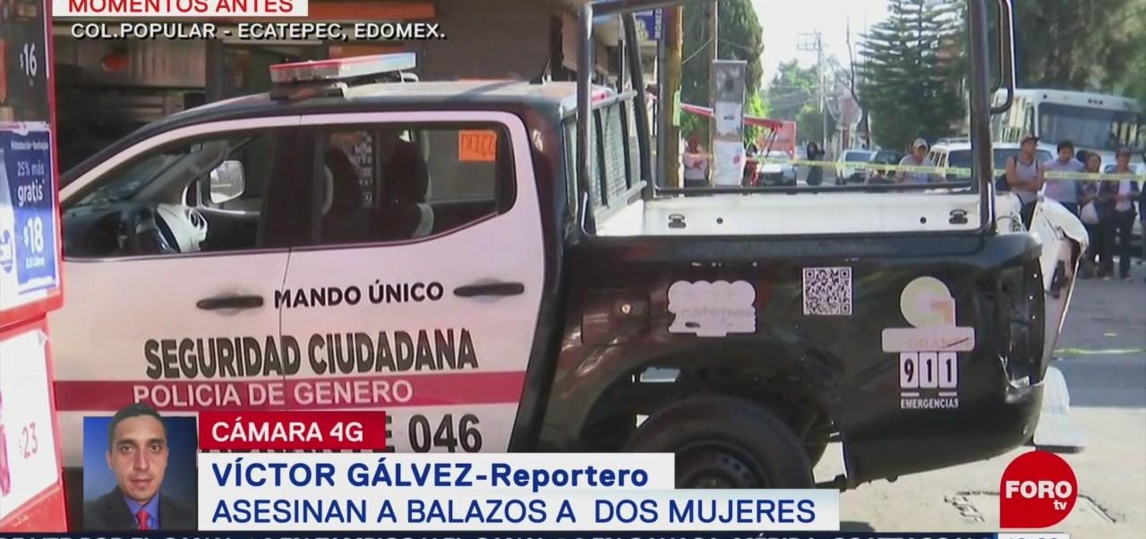 FOTO: Asesinan a dos mujeres en Ecatepec, Edomex, 18 abril 2019