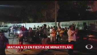FOTO: Ataque armado en fiesta familiar deja 13 muertos en Veracruz, 19 ABRIL 2019