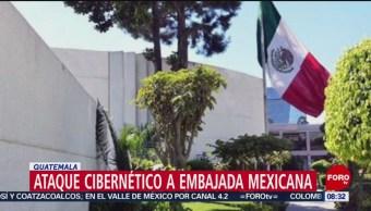 FOTO: Ataque cibernético a Embajada de México en Guatemala, 21 ABRIL 2019