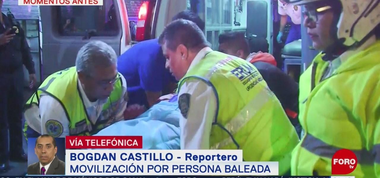 Foto: Atienden Persona Baleada Centro Cdmx 22 de Abril 2019