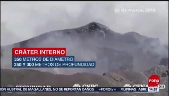 Foto: Aumenta cráter interno del Popocatépetl