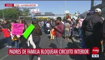Autoridades educativas CDMX dialogan con padres que bloquean Circuito Interior